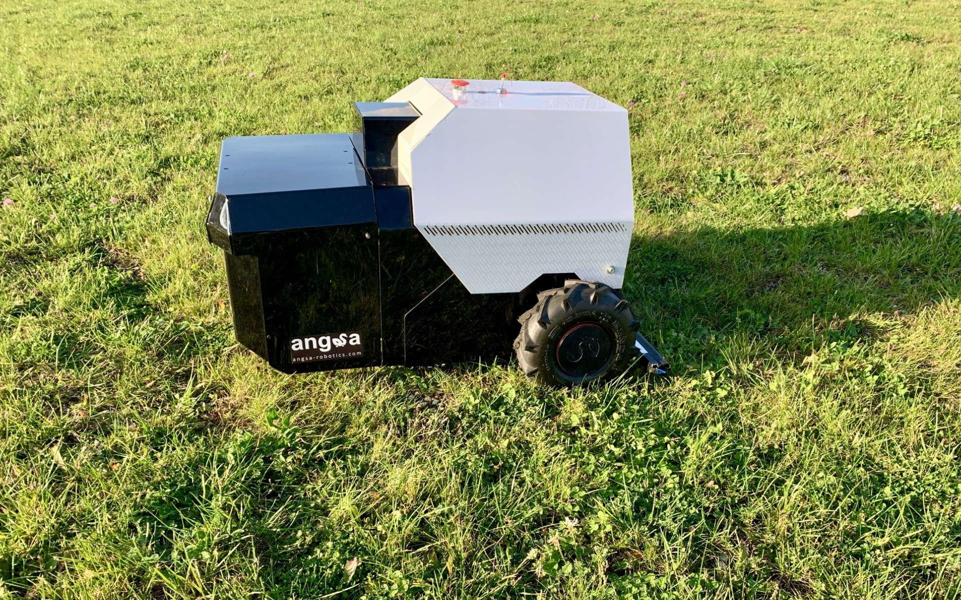 Foto von dem dritten Prototypen, Clive, des StartUps Angsa-Robotics